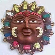 Celestial Inah Mexico Reproduction Sun Face Tribal Mayan Cultural Wall H... - $47.51