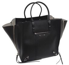 New $2225 Balenciaga Papier Leather A5 Zip Around Graine Double Black To... - $1,468.04