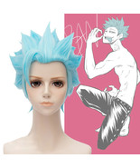 The Seven Deadly Sins Greed Ban Short Light Blue Cosplay Full Wig - $20.79