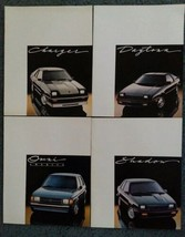 1987 Dodge 4 Brochure Lot Charger, Daytona, Omni, Shadow - $32.66