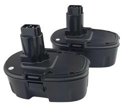 2x 1300mAH 18 Volt Power Tool Battery For Dewalt DE9095 DC9096 DE9096 Fast Ship - $56.30