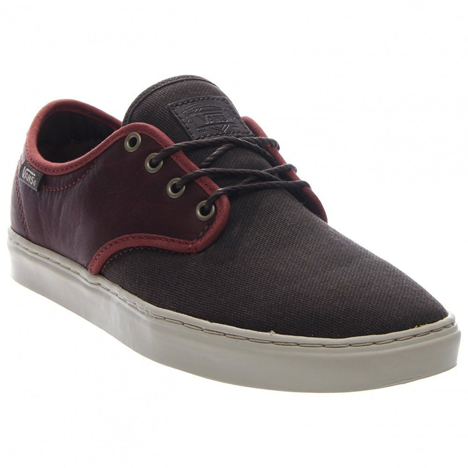 VANS OTW COLLECTION LUDLOW + LEATHER HENNA BROWN SHOES MENS SZ 7.5 BURGUNDY