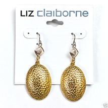 """Liz Claiborne Two Tone Pierced Earrings 2 1/4"""" NEW - $9.99"""