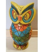 Vintage Ceramic Owl Bank Retro Mid Century with Stopper - $9.99