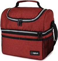Insulated Dual Compartment Lunch Bag, Double Deck Box Lunch with Shoulde... - $27.98