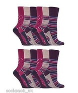 12 Pairs Womens Sockshop Gentle grip socks 4-8 uk,37-42 Stripe Dot Pink GG55 - £12.06 GBP