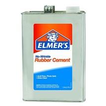 ELMERS No-Wrinkle Rubber Cement, 1 Gallon, Clear 234