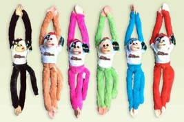 "NEW YORK Plush Stuffed Animal Toy Hanging Monkey 18"" w/ Sounds Lot of 6 - $11.88"