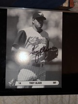 TROY GLAUS HAND SIGNED ANAHEIM ANGELS 5X7 PHOTO CARD - $7.60