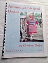 Machine Knitting Pattern Amanda'sStriped Dress Children Sizes 2-6 - $6.73