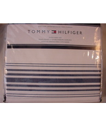 Tommy Hilfiger Baja Navy Stripe on White Sheet Set Queen - $60.00