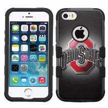 for Apple iPhone 5 5S Armor Impact Hybrid Cover Case Ohio State Buckeyes #B - $18.65