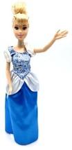 Disney CINDERELLA barbie doll Blue Dress Unbendable Knees Silver Neck Ba... - $4.21