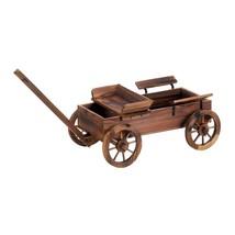 Plant Planter, Old World Wagon Decorative Rustic Patio Outdoor Planter G... - $131.19