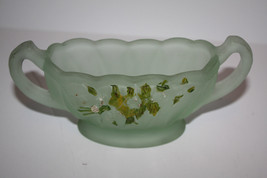 Very Old Depression Glass Frosted Green Handles - $13.87