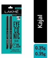 2 X Lakmé Eyeconic Kajal Twin Pack, Black, 0.35g + 0.35g Free Shipping - $7.19