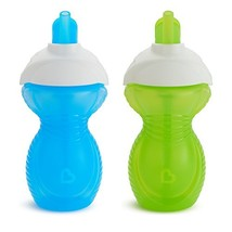Munchkin Click Lock Flip Straw Cup, Blue/Green, 9 Ounce, 2 Count - $9.28