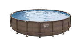 """Bestway Power Steel Deluxe Series 20' x 48"""" Above Ground Pool - Ready to Ship image 1"""