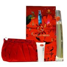 Kenzo Flower 3 Piece Gift Set Eau De Parfum Natural Spray 100ML NIB-K85420020 - $71.78