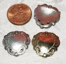 HEART SHIELD ONE TO THREE HOLE FINE PEWTER EARRING PART 20x20x3mm; Hole 1.5mm image 2