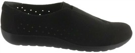 Clarks Perforated Slip-On Shoes Medora Gemma Black 7W NEW A282691 - $57.40