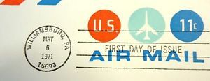 USPS Scott UC43 11c Envelope 1971 Jet Airmail Lot of 3