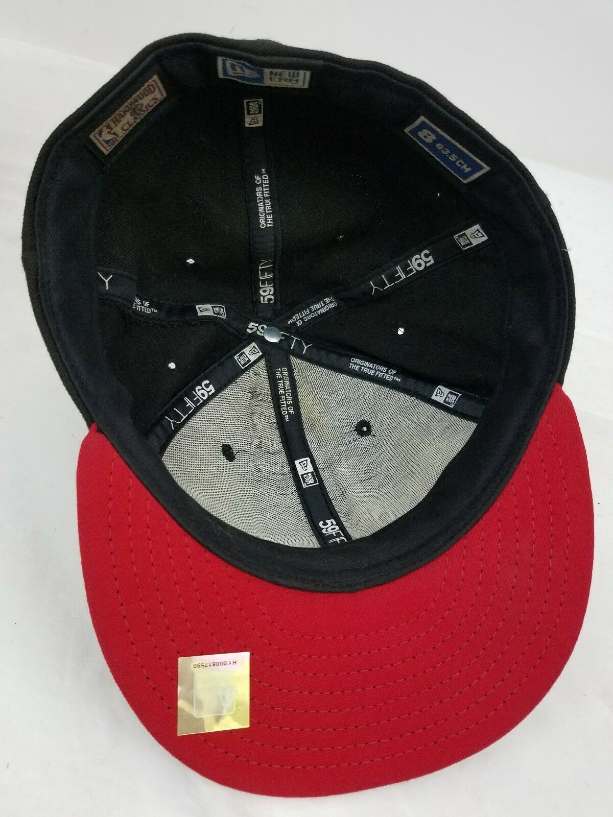 Chicago Bulls Skyline Embroidered New Era Fifty Nine 50 Hat Sz 8 Flat Cap