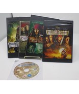 Pirates of the Caribbean Four-Movie Collection 5 Disc Blu-ray Movies, Sl... - $29.69