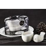 25 Spring Garden Love Dove White Porcelain Bird Salt Cellar Bridal Weddi... - €97,66 EUR