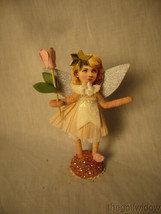 Vintage Inspired Spun Cotton Antique Looking Jeweled Angel no. V19 image 2