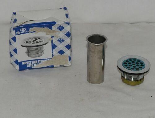 Dearborn Brass 774T Duplex Sink Strainer Brass Body Stainless Steel Strainer