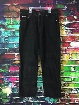 Calvin Klein Jeans Stretch Corduroy Boot Cut Pants Size 34 Black Cotton/Spandex - $13.75