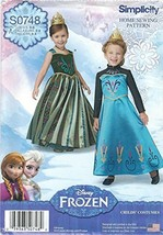 Simplicity 1222 Girls' Frozen Costumes 3 to 8 Sewing Pattern supplier:sa... - $13.23