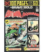 The Brave and the Bold Comic Book #114, DC Batman and Aquaman 1974 FINE+ - $22.17