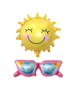 Sun Balloon, Sunglasses Balloon, Summer Beach Party Decorations, Photobo... - $6.00