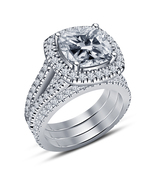 Engagement Trio Ring Set Women's Special  Celebrity Lala Vasquez Ring 92... - $135.60