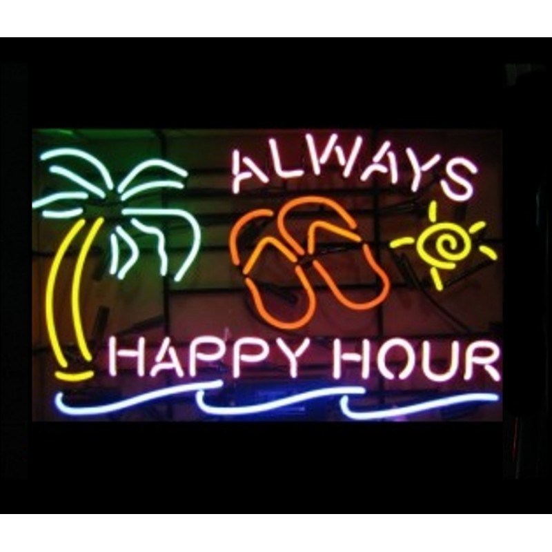 Always happy hour neon bar sign an 800x800