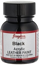 Angelus Acrylic Leather Paint - Black 1 oz. Bottles - $2.77