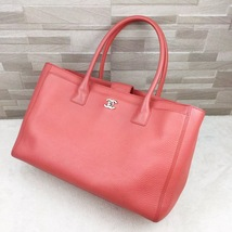 AUTHENTIC CHANEL CORAL PINK EXECUTIVE CERF LARGE TOTE SHOPPER BAG SHW  image 3