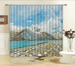3D Peace Lake 6 Blockout Photo Curtain Printing Curtains Drapes Fabric Window CA - $147.54+
