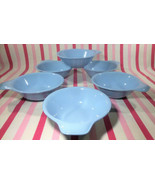 Fabulous Vintage Homer Laughlin Skytone Blue 6pc Handled Lug Soup Bowl Set - £17.05 GBP