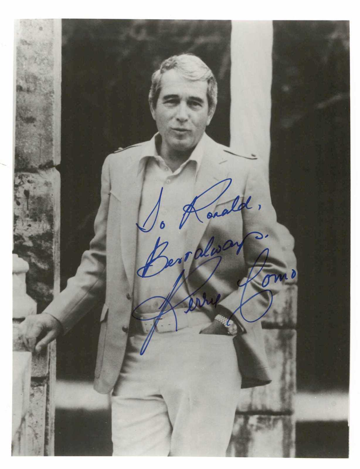 Primary image for Perry Como (d. 2001) Signed Autographed Glossy 8x10 Photo