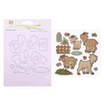 (12)1set Cute Rabbit/Mouse/Party Metal Cutting Dies Stencil Scrapbooking... - $20.00