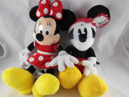 "DISNEY Park Minnie Mouse + Gallerie Mickey MouseChristmas 12"" + ears Plu... - $23.75"