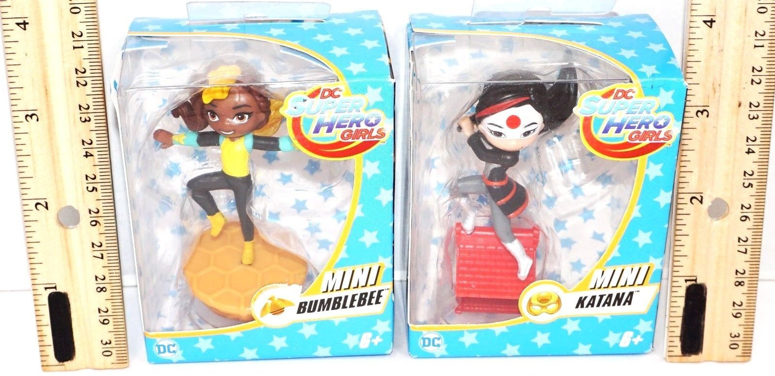 "Primary image for 2 LOT - BUMBLEBEE & KATANA 2.5"" TOY FIGURE DC SUPER HERO GIRLS TV SHOW 2016 NEW"
