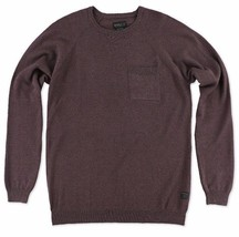 O'Neill PRESIDIO Mens Long Sleeve Sweater Size Medium Burgundy NEW  - $54.50