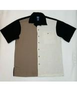 VTG John Blair Mens M Panel Beach Bowling Short Sleeve Button Shirt Colo... - $18.95