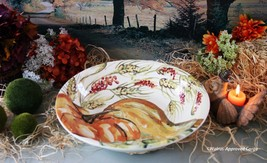 POTTERY BARN WATERCOLOR PAINTED PUMPKIN SERVING BOWL -NIB- FALL INTO STYLE! - $74.95