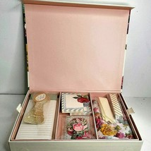 Stationary Box  75+ pcs thank you notes flowers spoons note pad book marker - $28.04