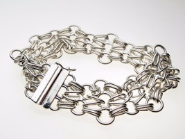 Sterling 925 Silver Heavy weight Chain Link Bracelet 7.5 inch  - $59.34
